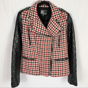 Kut From The Kloth Houndstooth Moto Style Jacket